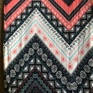 Brat Star Skirts - Mandala Chevron Print Maxi Skirt